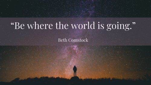 Be where the world is going JPG
