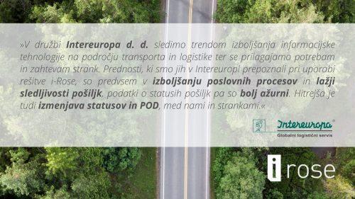 Intereuropa, izjava naročnika